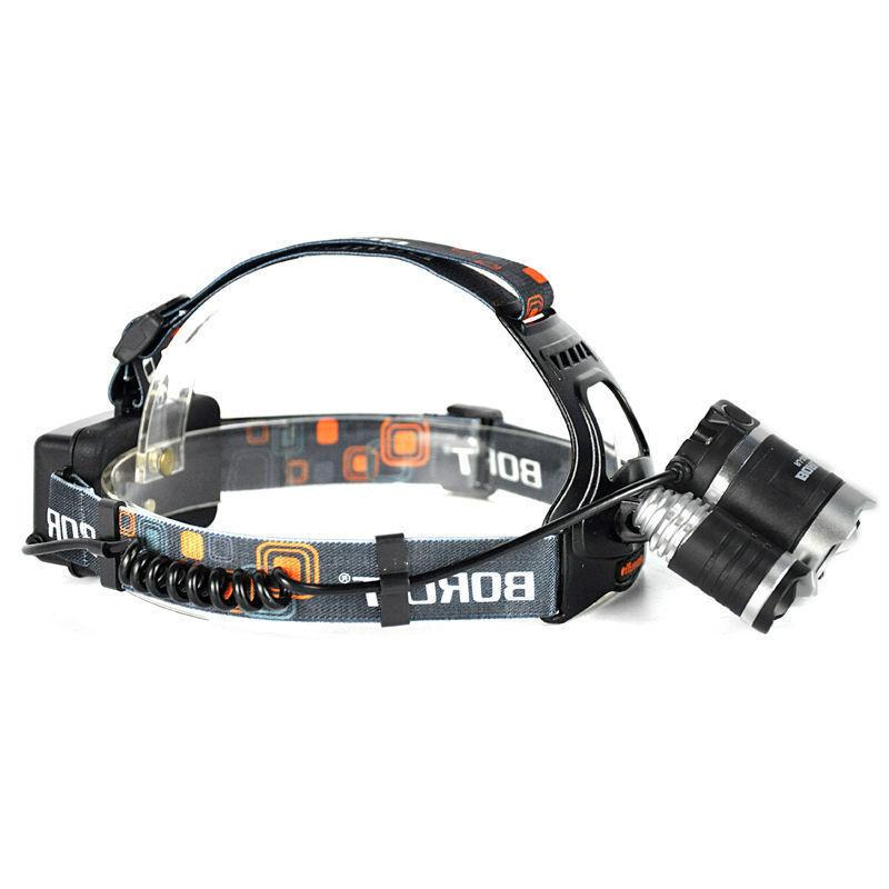 BORUiT 16500 Lumen Headlamp CREE 3x L2 LED Headlight 18650 Light Charger