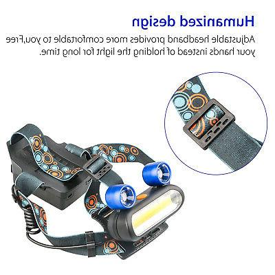 1800LM 2X XM-L T6 LED Headlamp Rechargeable Light USA