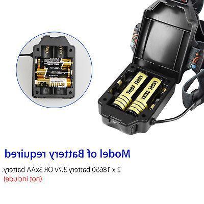 1800LM 2 T6 LED COB USB Rechargeable Flashlight