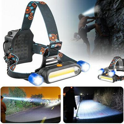 US Led Headlight Headlamp Flashlight Head Camping Rechargeable Lamp