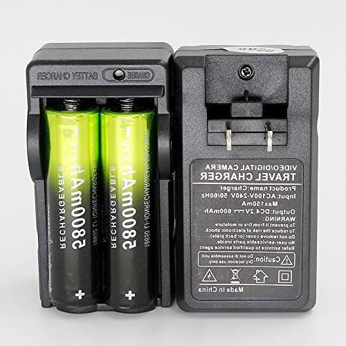 4 X Battery 3.7V Li-ion Flashlight Headlamp