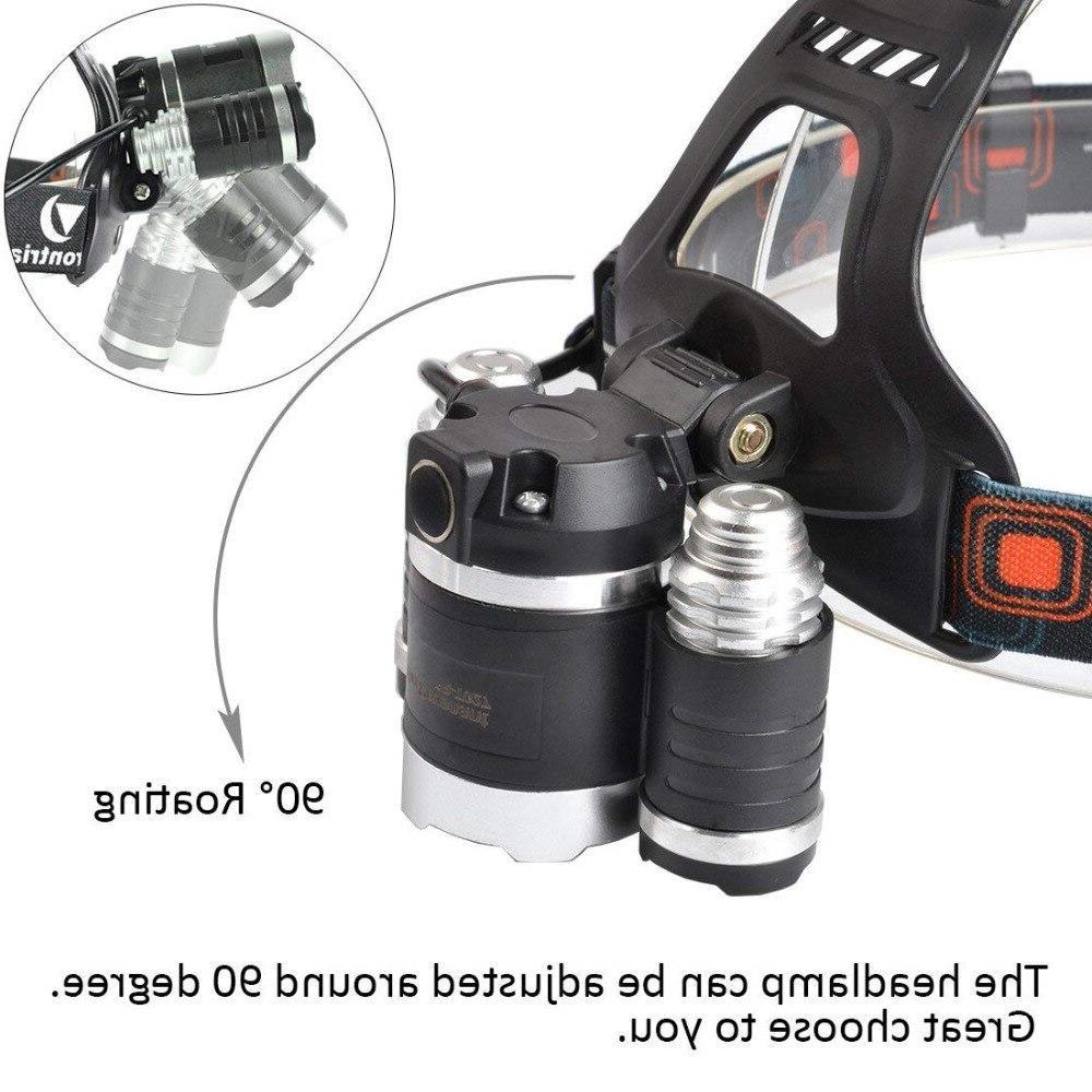 T6 LED <font><b>Headlamp</b></font> 13000LM Mode Waterproof <font><b>Hands</b></font>-<font><b>free</b></font> Torch for Biking Camping Fishing