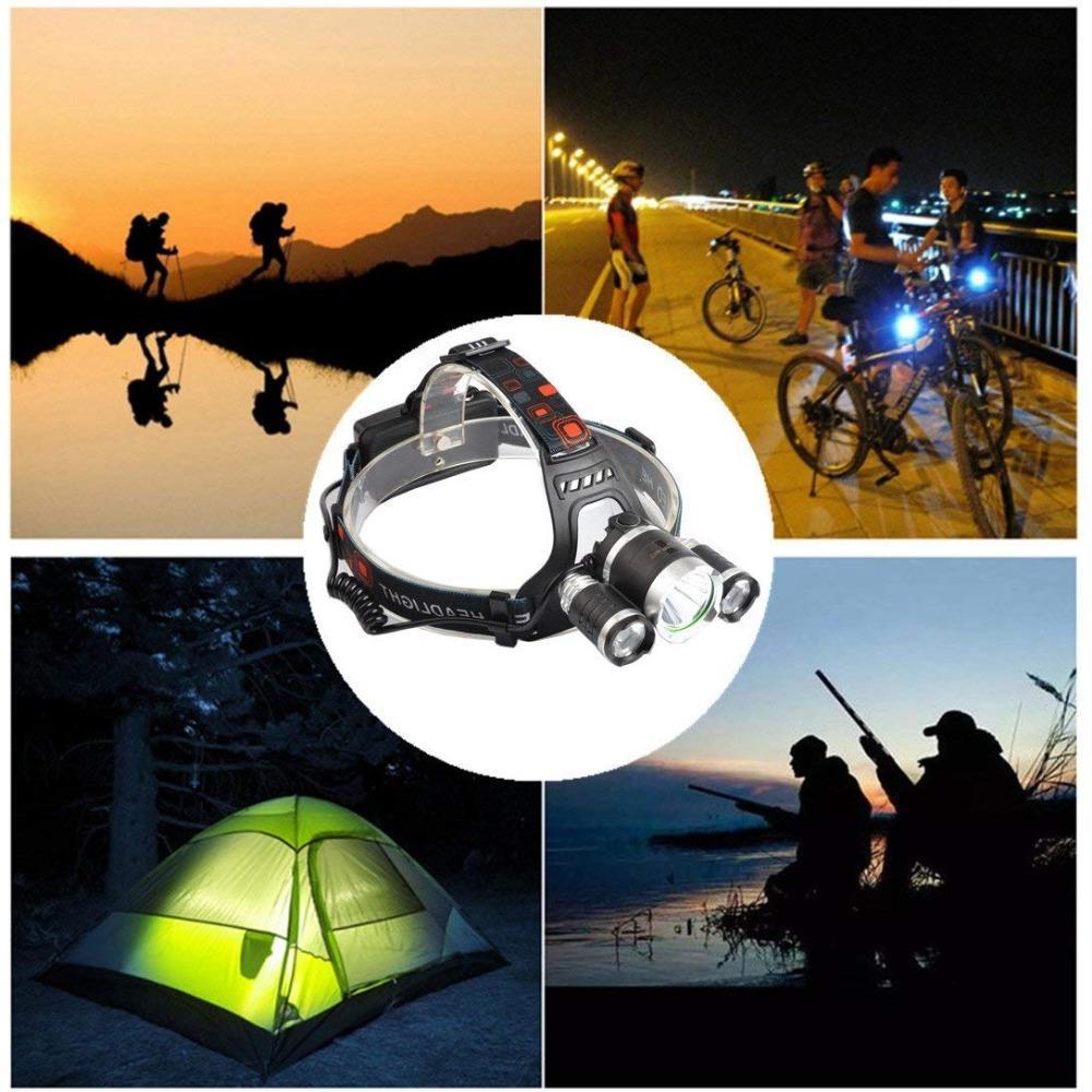 1Set LED <font><b>Headlamp</b></font> Mode Headlight Torch Camping Hunting