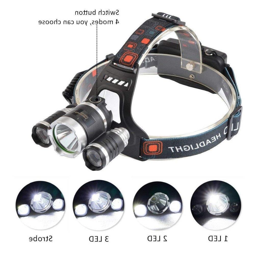 T6 LED <font><b>Headlamp</b></font> Mode Torch <font><b>Flashlight</b></font> Camping