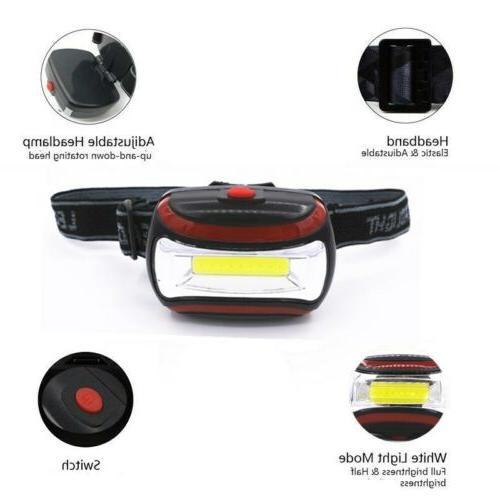 2.1oz Adjustable Headband Light AAA Modes COB USA