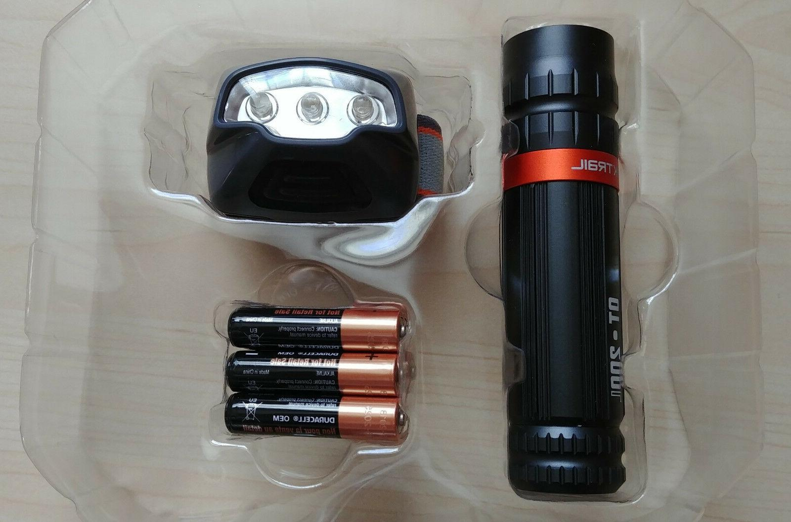 Ozark 200 50L Headlamp AAA Batteries