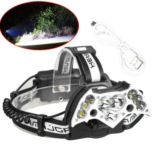 200000LM Rechargeable 18650 Headlight Torch Lamp + Battery