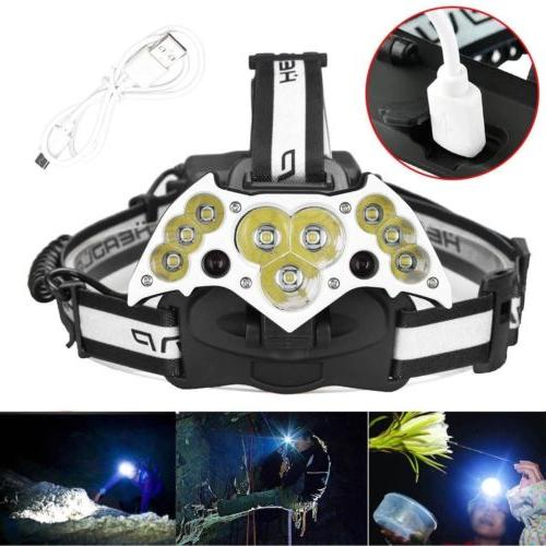 200000LM Rechargeable 18650 Headlight Lamp +