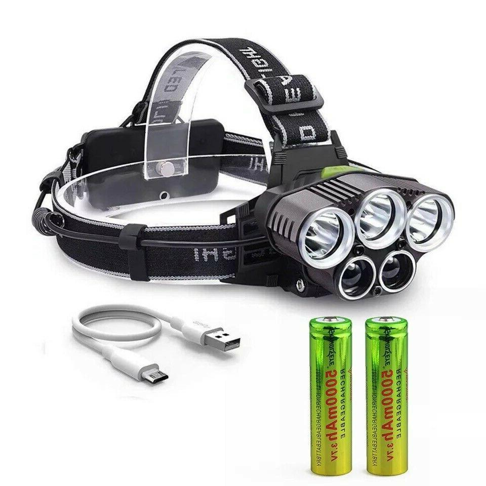 250000LM 5X LED Headlamp Rechargeable Flashlight USA