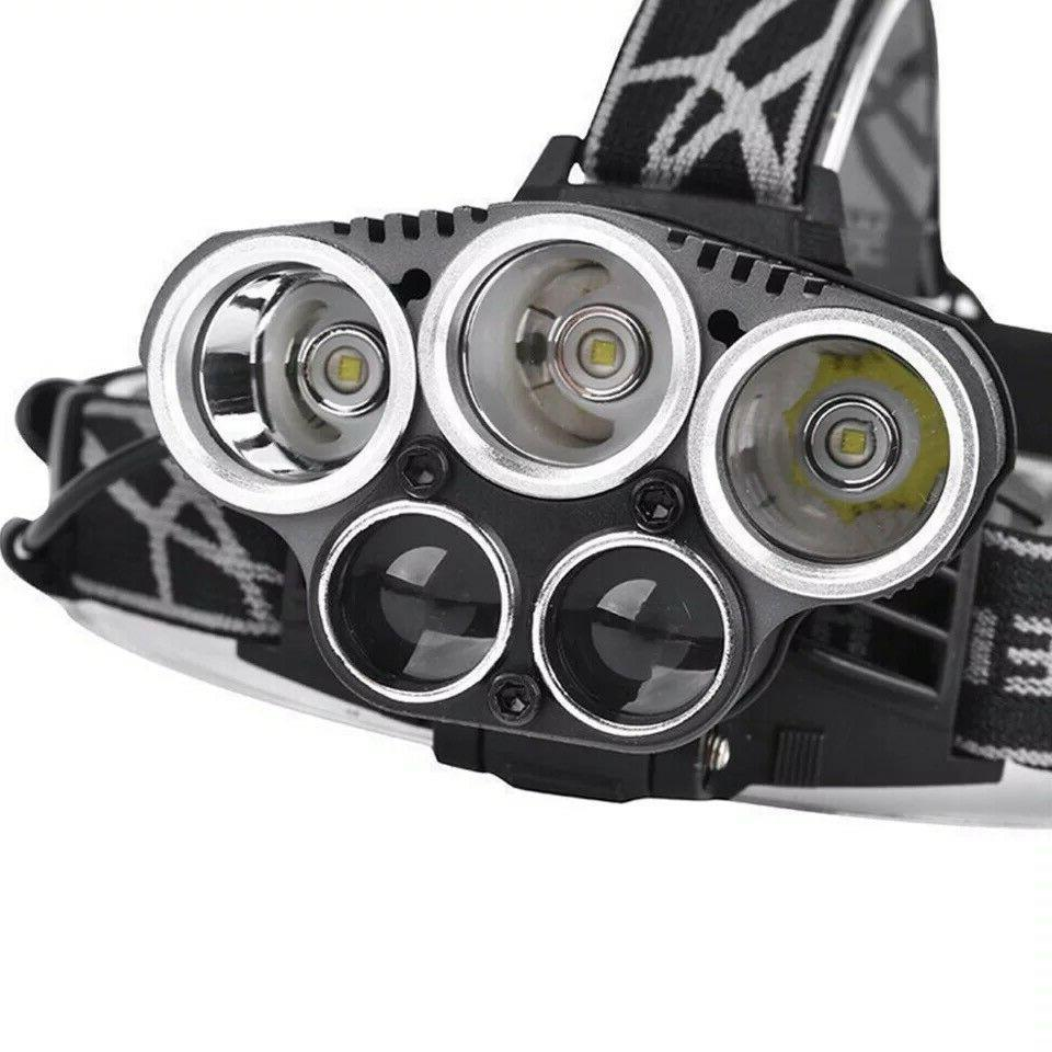 250000LM 5X LED Headlamp Head Light Flashlight Torch