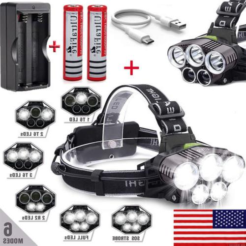 250000LM Rechargeable Head Light Torch