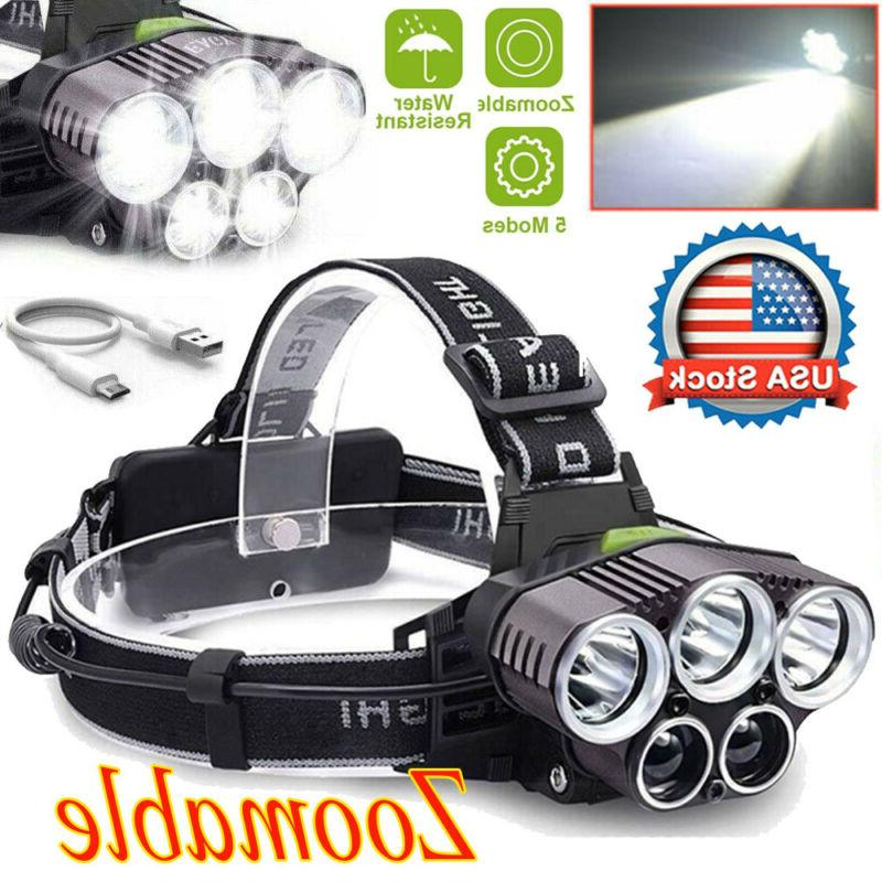 350000LM Rechargeable Bright Headlamp Headlight