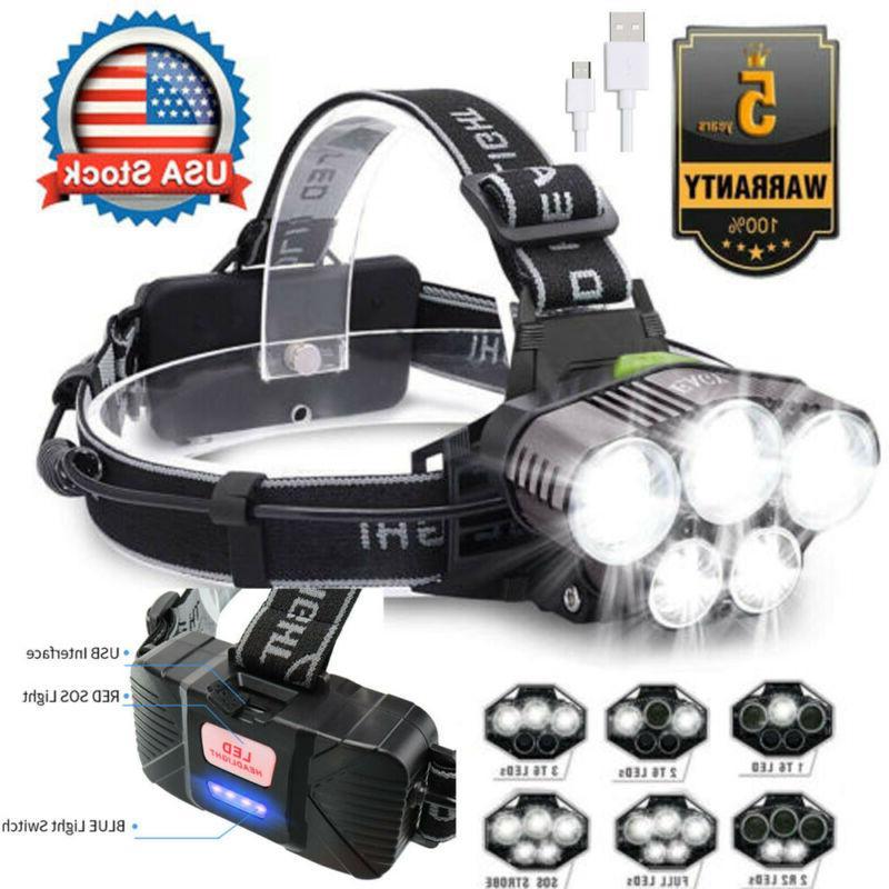 350000Lumens 5X T6 Headlamp