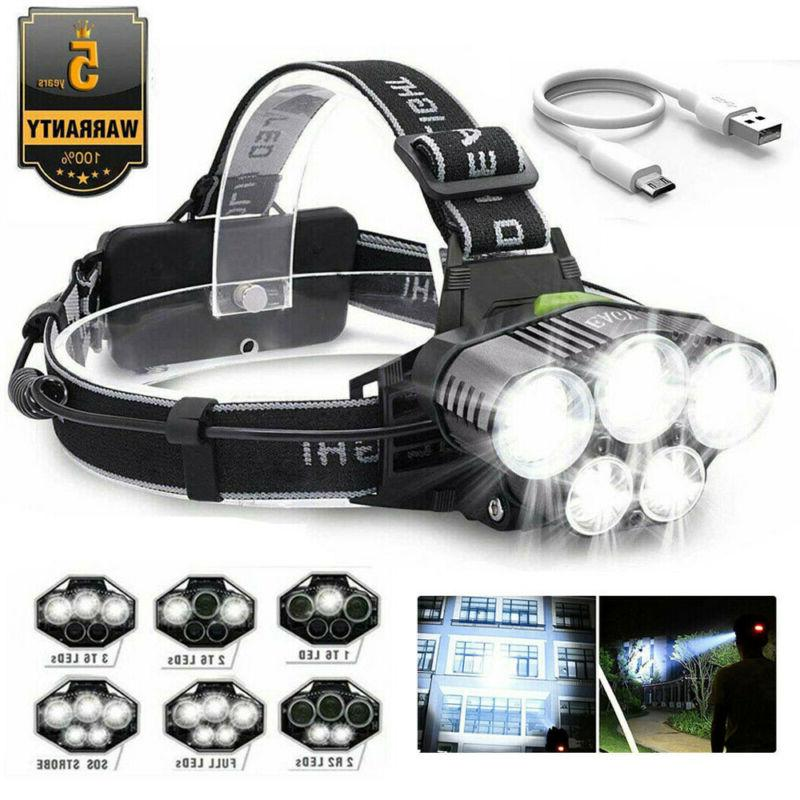 350000lm 5x t6 led rechargeable super bright