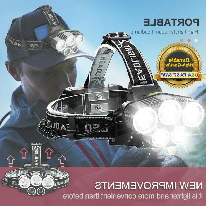 350000Lumens 5X Headlamp USB Head