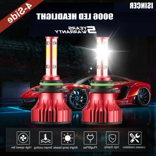 4 sided headlight 9006 9012 hb4 led