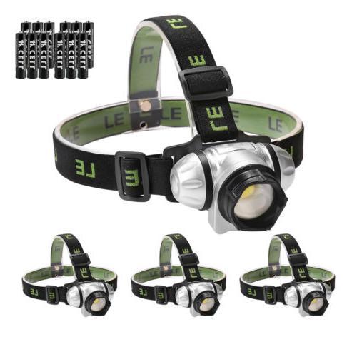 4x 140 lumen led headlamp flashlight head