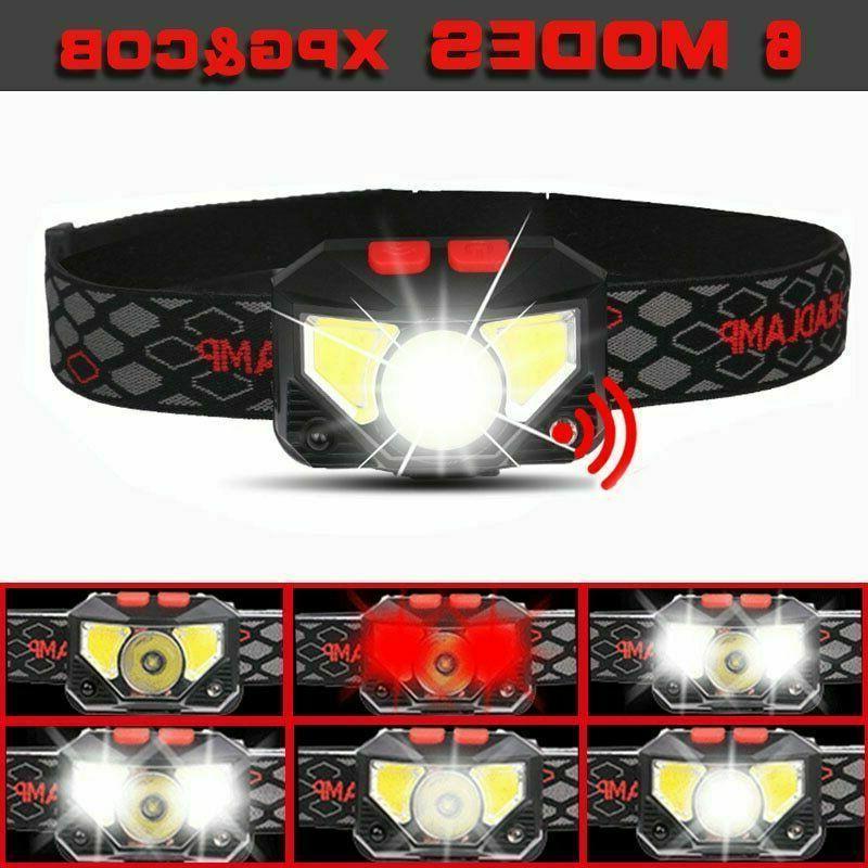 4x Motion LED Headlamp Headlight Head Torch
