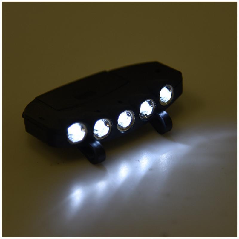 5 LED Head <font><b>Flashlight</b></font> <font><b>Hands</b></font>-<font><b>Free</b></font>