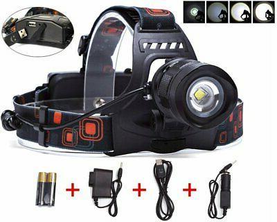 5 modes zoomable headlight headlamp