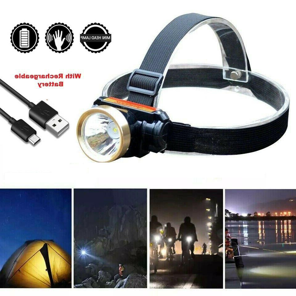 5000lm t6 led rechargeable usb waterproof headlight