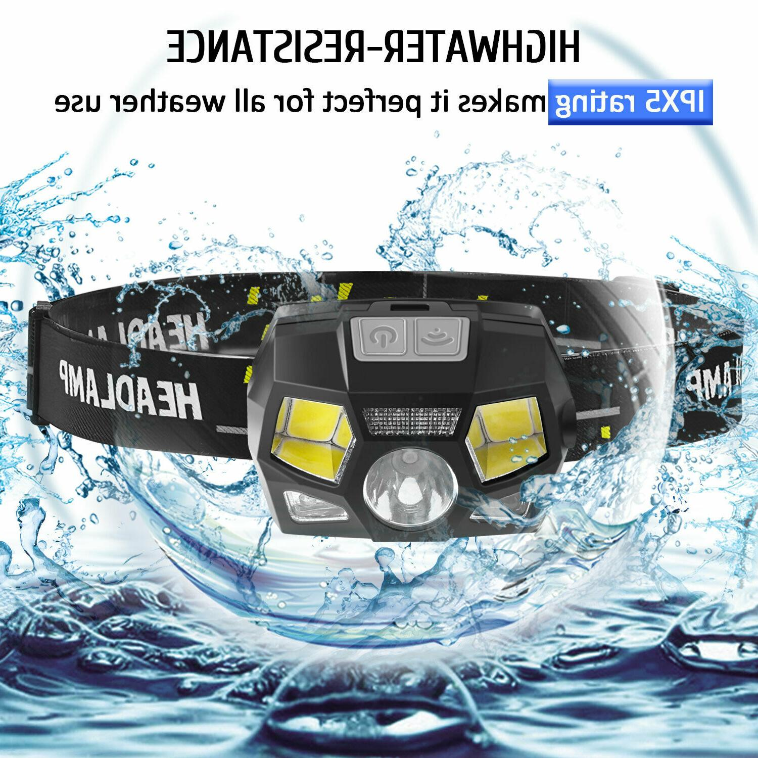 LED Headlamp Rechargeable Headlight Head Lamp Camping