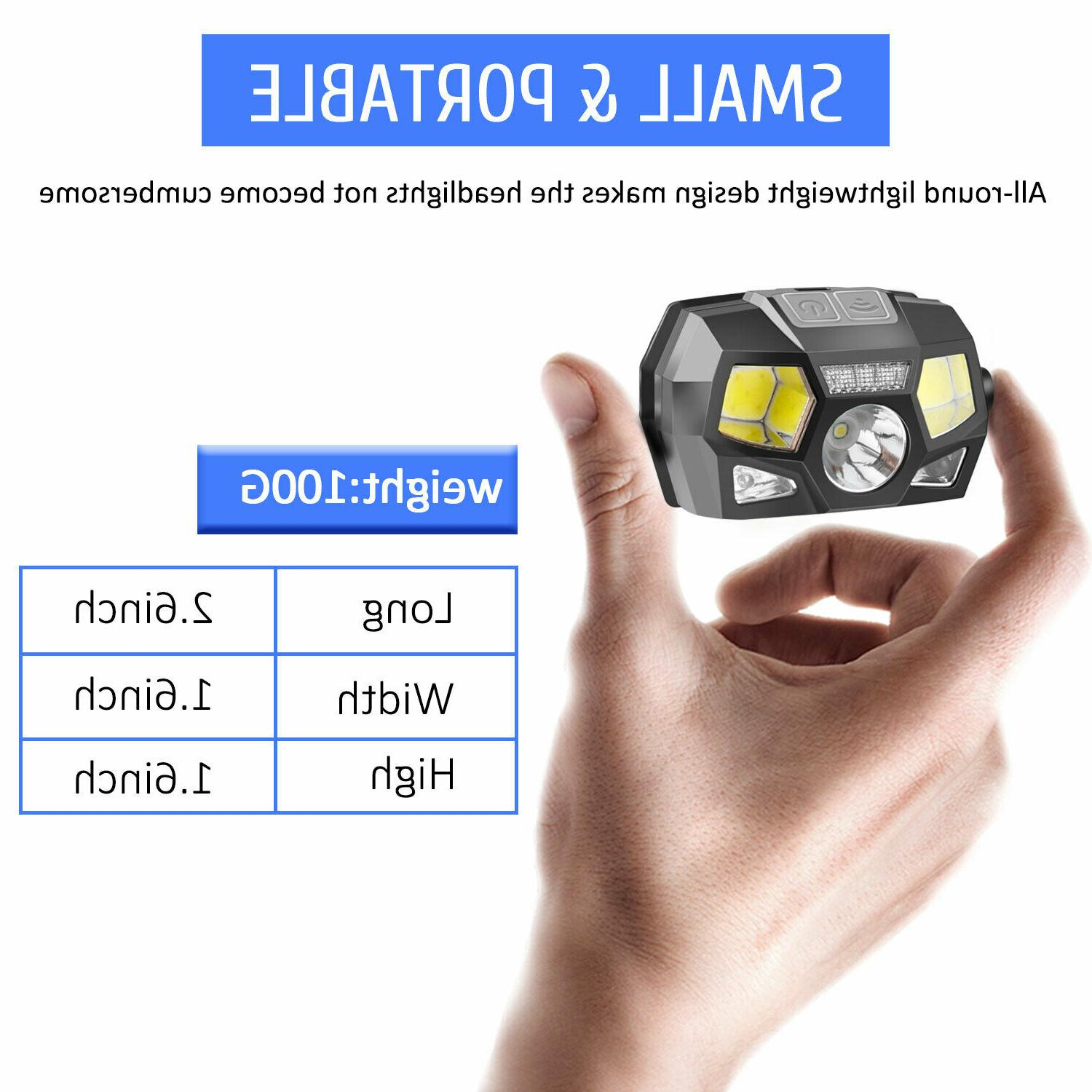 LED Rechargeable Headlight Head Lamp Camping