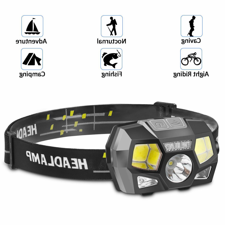 LED USB Headlight Flashlight Camping