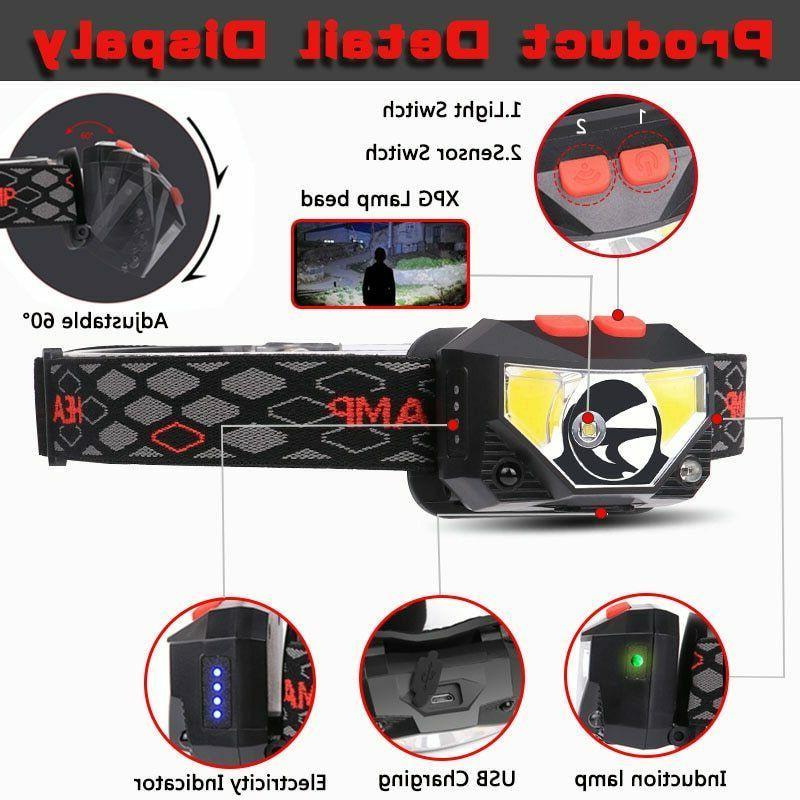 85000Lm Motion Sensor Headlamp Headlight Head Torch