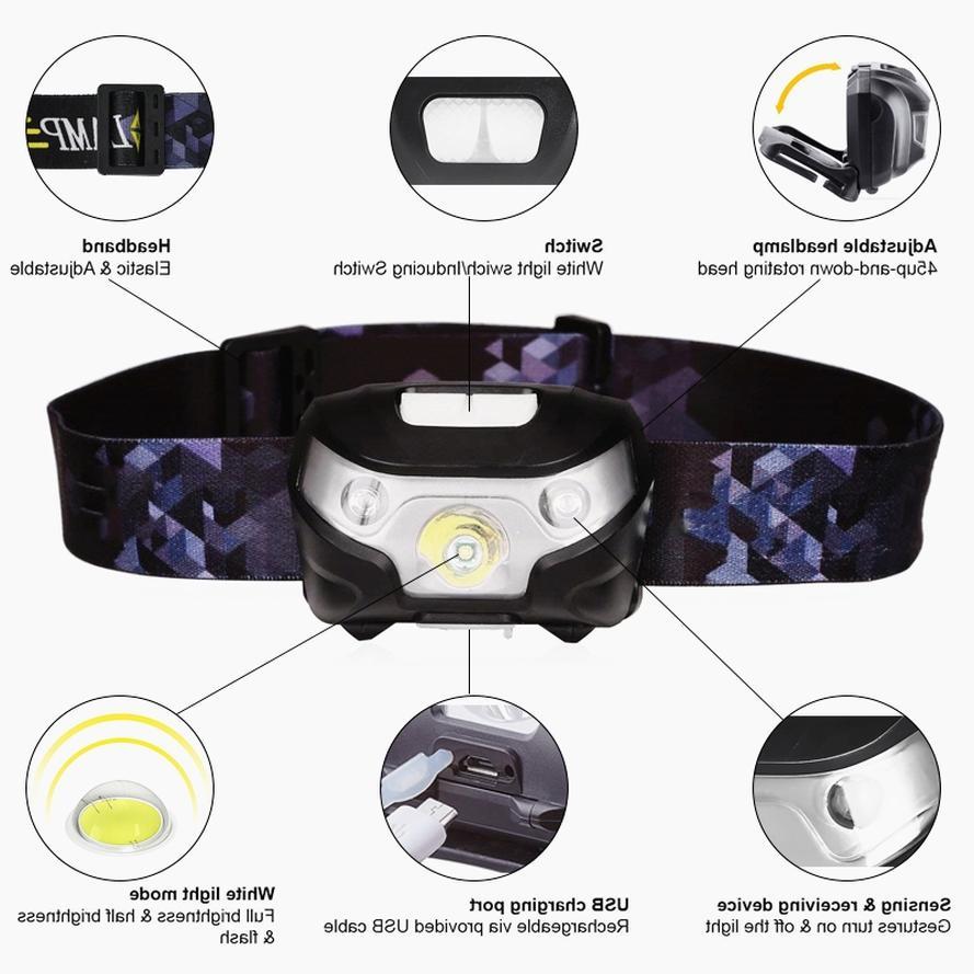 60000lm LED HeadLamp Sensor lamp headlight 5