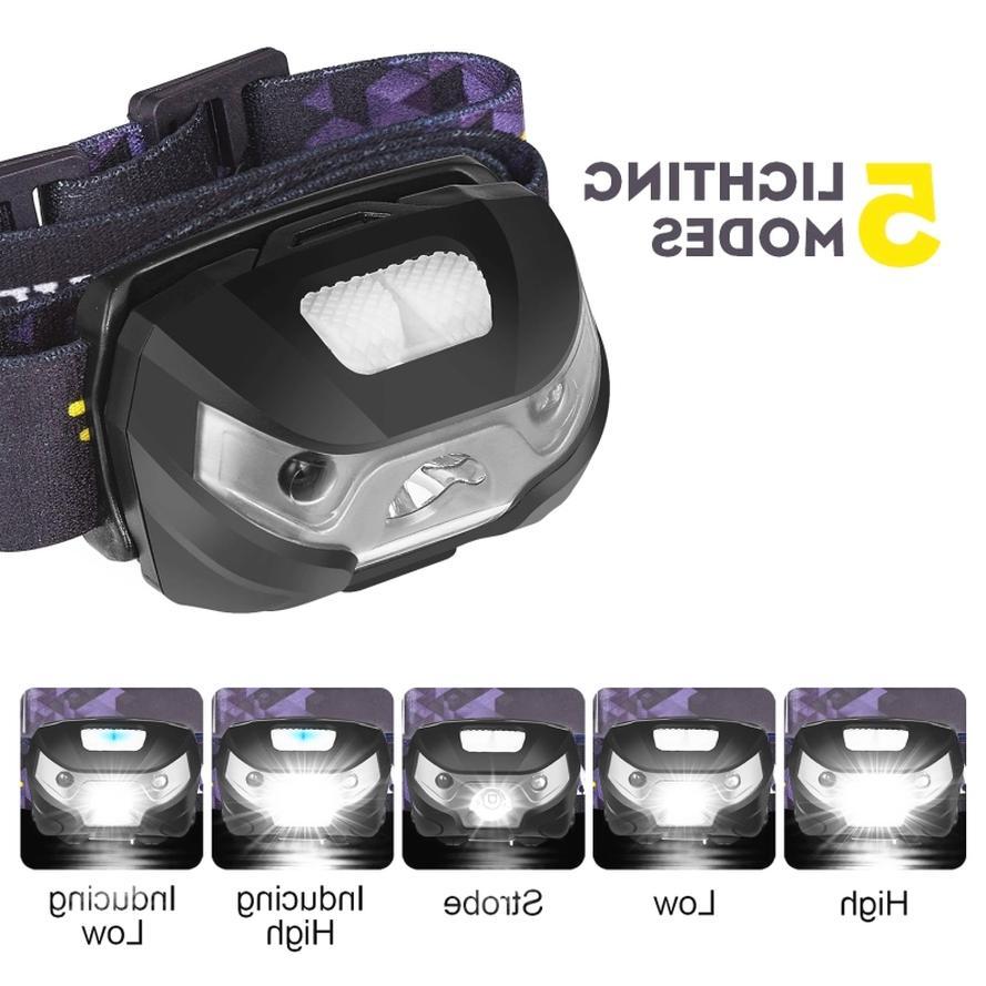 Sensor USB head lamp headlight 5 Modes
