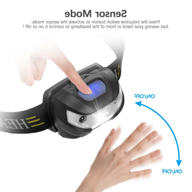 60000lm HeadLamp Sensor USB lamp headlight