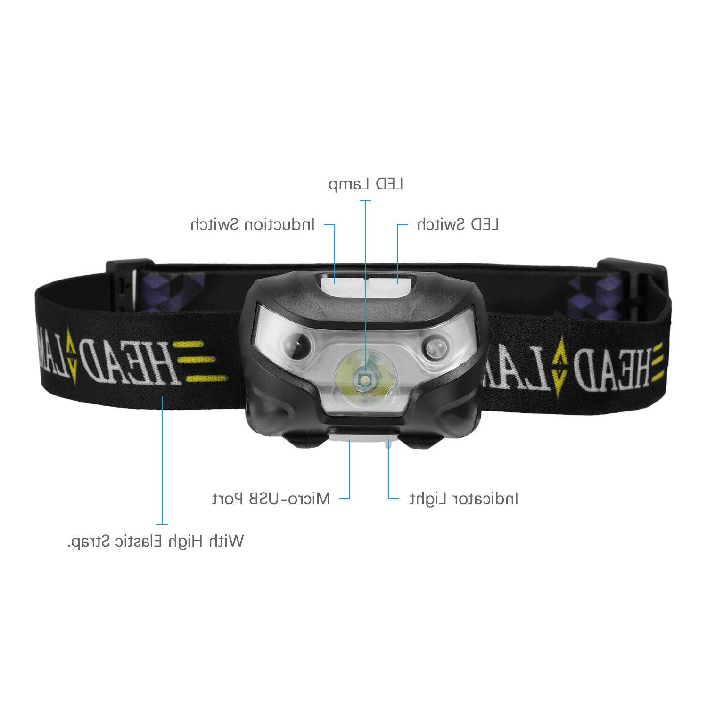 Sensor Rechargeable lamp headlight 5