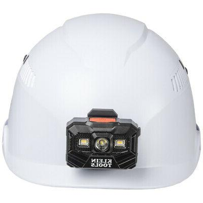 Klein Vented Class Helmet With Headlamp