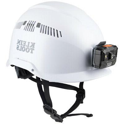 60150 white vented class c safety helmet