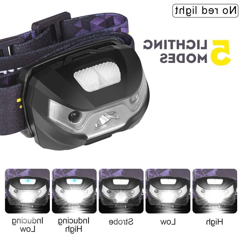 Sensor Flashlight Camping Torch Light Lamp USB