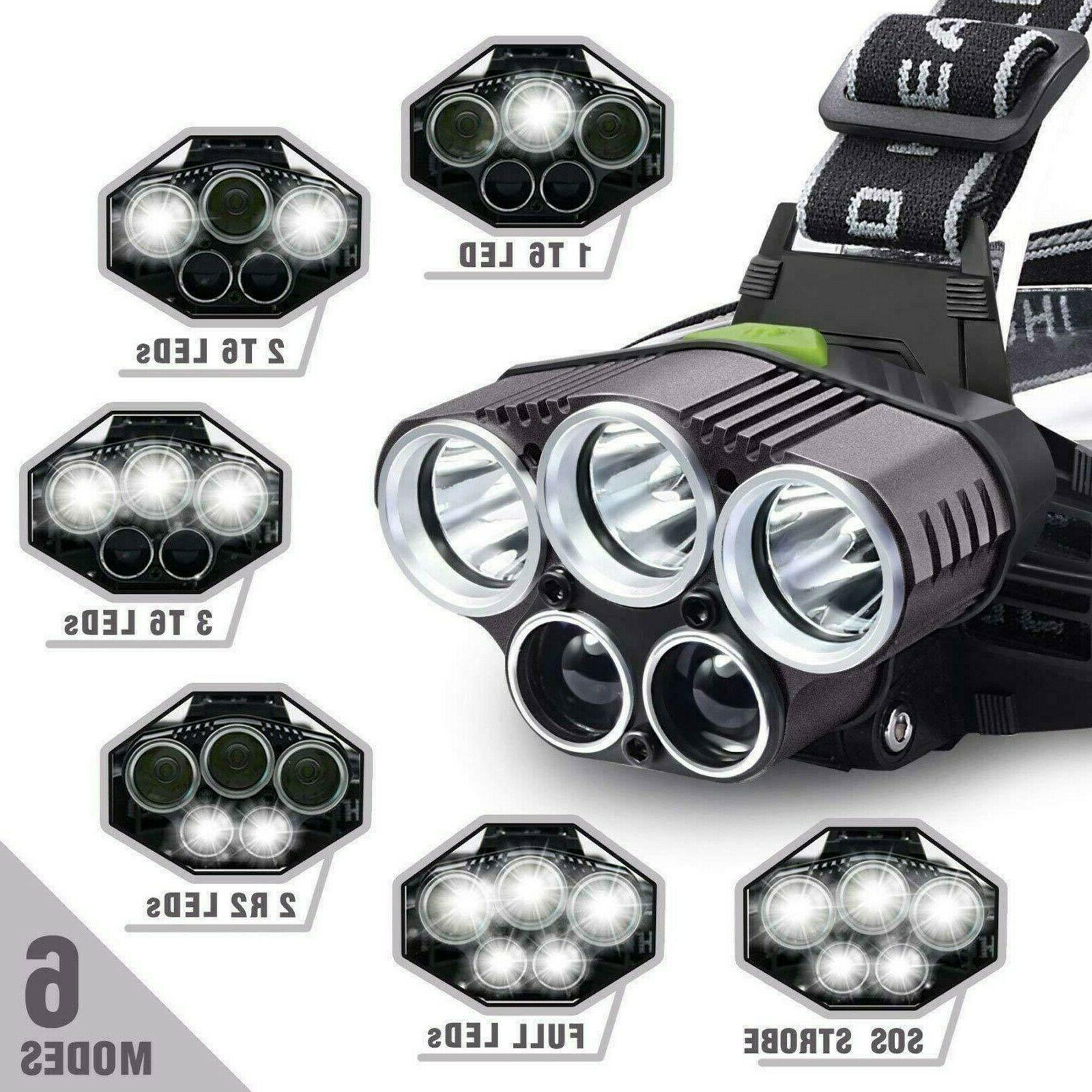 750000LM Headlamp Flashlight Lamp