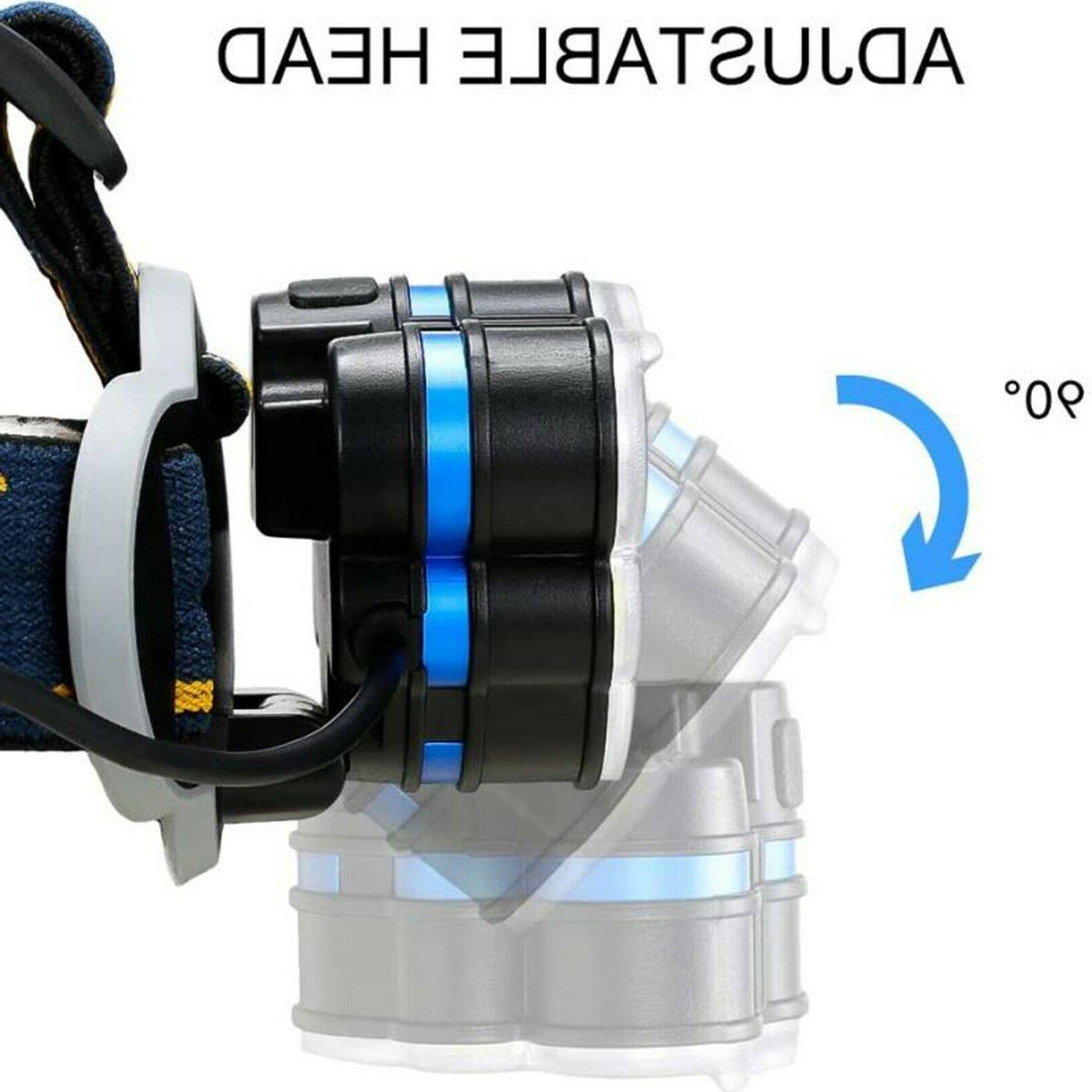 750000LM 5X Headlamp Head Flashlight Torch