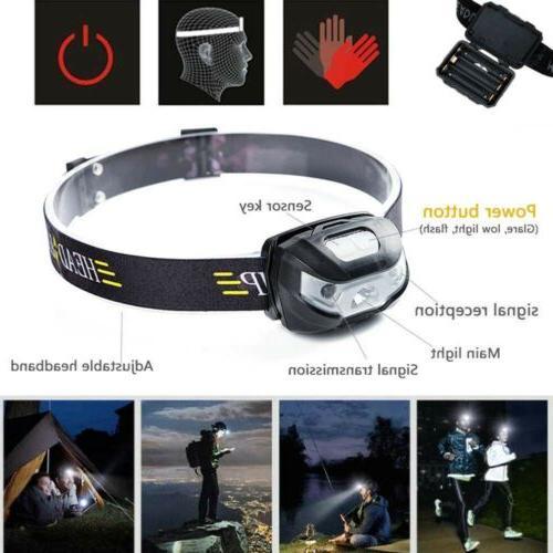 800000LM Headlamp Sensor AAA Running Light