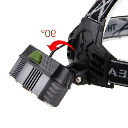 80000LM 5-LED Headlight + USB Cable +