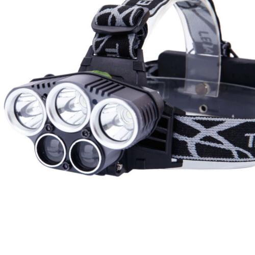 80000LM Headlamp Rechargeable + 18650