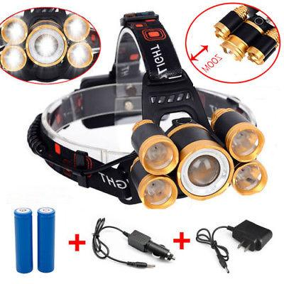80000LM 5-LED Zoom Rechargeable Light US