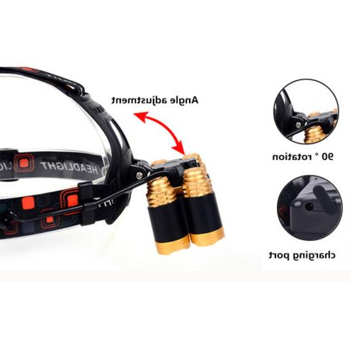 80000LM Rechargeable 18650 Headlamp Head Light Charger