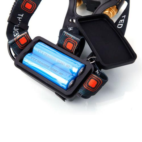 80000LM 5-LED Rechargeable 18650 Headlamp Head Light Torch