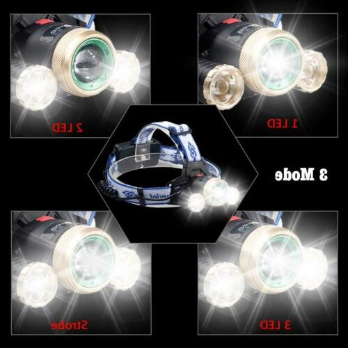 900000LM 3X Rechargeable Flashlight Head