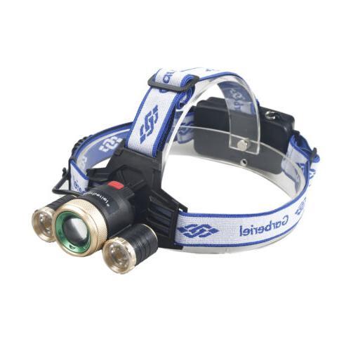 900000LM 3X T6 Rechargeable 18650 Headlamp Headlight Flashlight