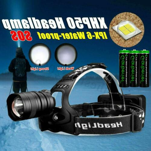 900000LM XHP50 LED Headlamp USB Rechargeable 18650 Headlight