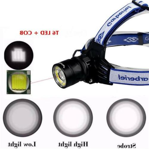 900000LMS Zoomable Headlamp Head Torch Light