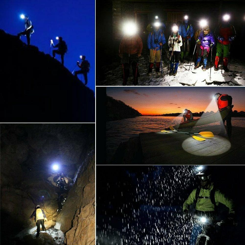 100000LM LED Headlamp Bike Flashlight