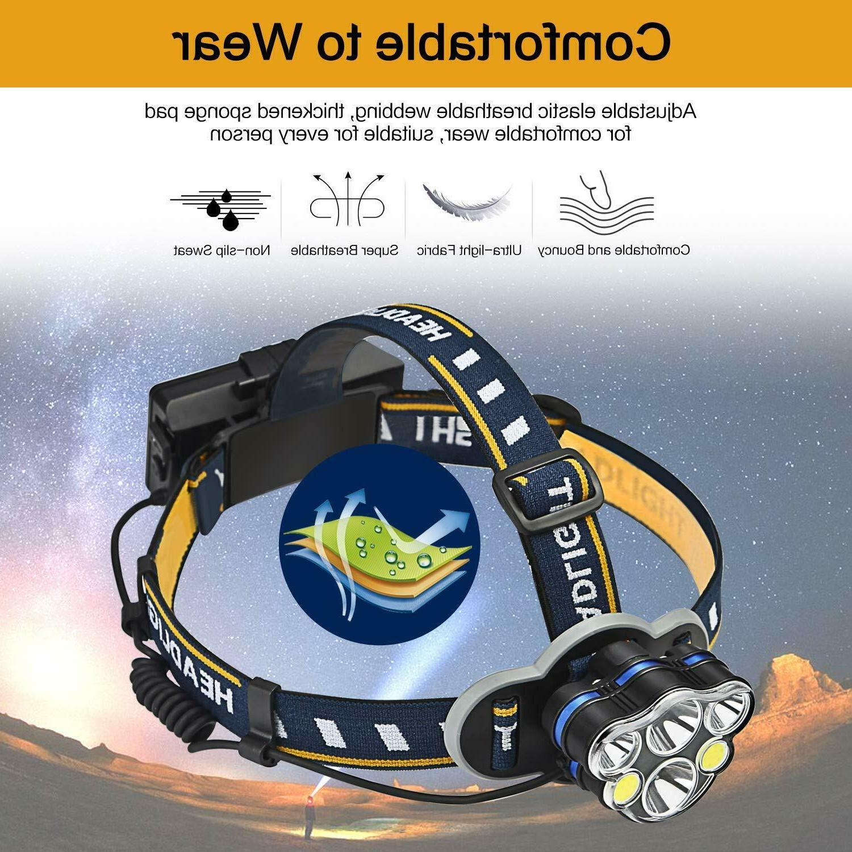 100000LM T6 LED Headlamp Bike Headlight Flashlight Head Torch